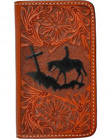 3D Tooled Leather Praying Cowboy iPhone 4/4s Cover
