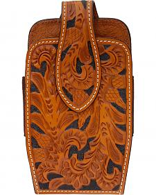3D Tooled Leather Large Smartphone Holder