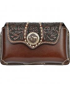 3D Chocolate Brown Tooled Leather Praying Cowboy Phone Case