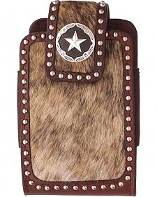 3D Brown Roan Hair Concho Studded Phone Case