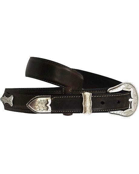 Roper Ranger Concho Leather Belt