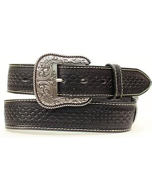 Ariat Beaded Inlay Basketweave Concho Western Belt