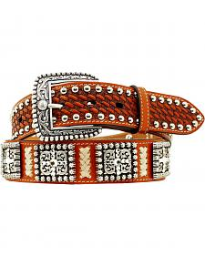 Ariat Basketweave Leather Laced Concho Belt