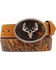 Nocona Camo Leather Belt