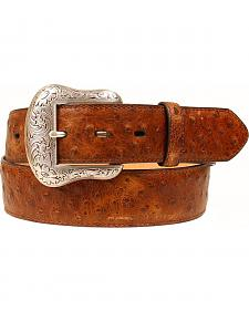 Nocona Vintage Ostrich Print Leather Belt