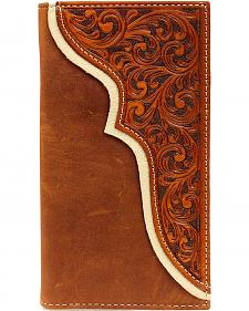 Nocona Tooled Corner Overlay Rodeo Wallet