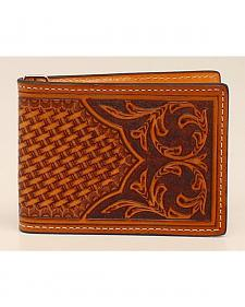 Nocona Floral Bi-Fold Money Clip Wallet
