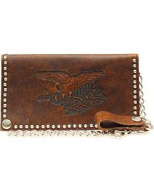 Nocona Nailhead Embellished Chain Wallet