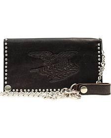 Nocona Nailhead Embellished Chain Wallet