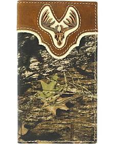 Nocona Mossy Oak Deer Skull Concho Rodeo Wallet