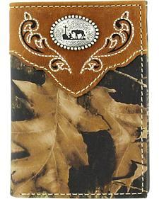 Nocona Mossy Oak Cowboy Prayer Concho Tri-fold Wallet