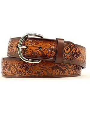 Hired Hand Tooled Leather Belt