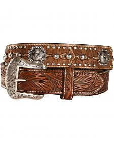 Nocona Longhorn Berry Concho Hair-on-Hide Belt