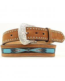 Nocona Top Hand Aztec Woven Inlay Belt