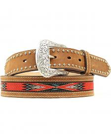 Nocona Top Hand Woven Aztec Inlay Belt