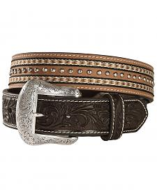 Nocona Top Hand Studded Double Ribbon Trim Belt
