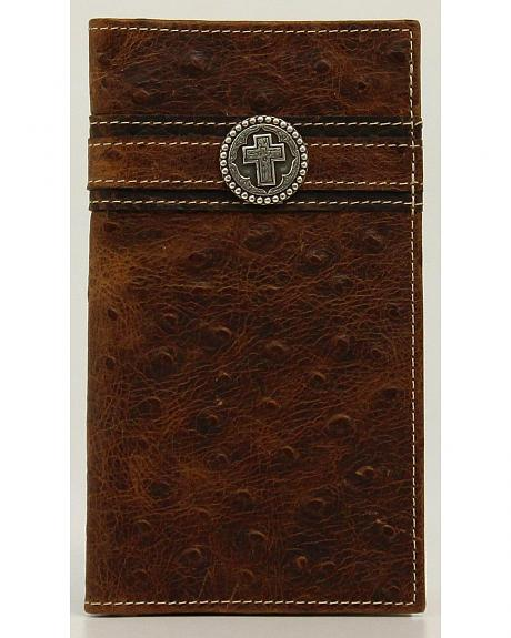 Ariat Ostrich Print Cross Concho Rodeo Wallet