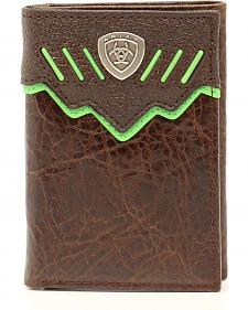 Ariat Trifold Shield Concho Wallet