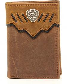 Ariat Trifold Shield Concho Tab Wallet
