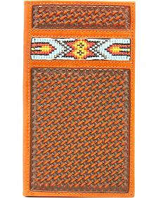 Nocona Aztec Beaded Basketweave Rodeo Wallet