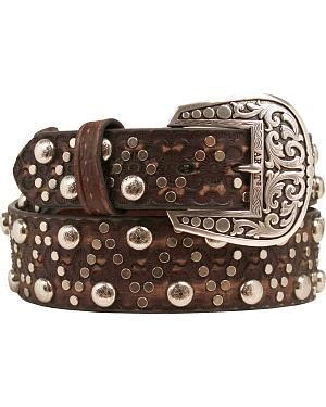 Ariat Studs & Brads Leather Belt