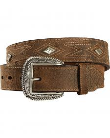 Ariat Aztec Stitched Diamond Concho Belt