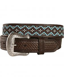Nocona Beaded Leather Belt