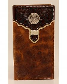 Nocona Rodeo Floral Overlay Concho Wallet