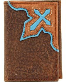 Nocona Trifold Bold Cross Wallet