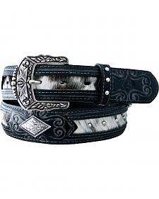 Stetson Fancy Concho Hair-on-Hide Inlay Belt