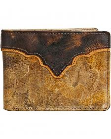 Stetson Canyon Leather Saddle Bi-Fold Wallet