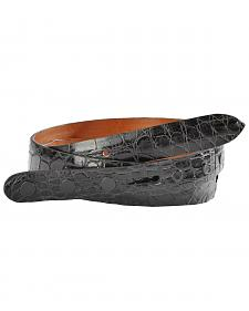 Lucchese Men's Black Alligator Leather Belt