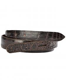 Lucchese Men's Cigar Alligator Leather Belt