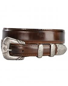 Lucchese Men's Brown Goat Leather Belt