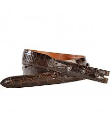 Lucchese Men's Sport Rust Glazed Alligator Leather Belt