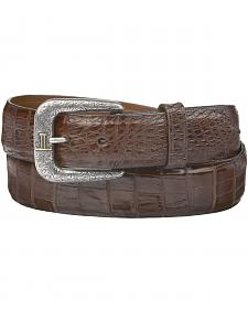 Lucchese Men's Sienna Caiman Ultra Belly Leather Belt
