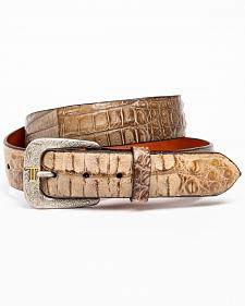 Lucchese Men's Burnished Hornback Caiman Leather Belt