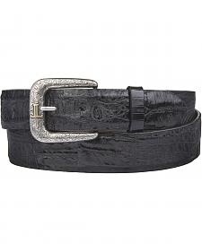 Lucchese Men's Black Hornback Caiman Leather Belt