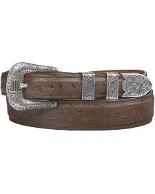 Lucchese Men's Sienna Full Quill Ostrich Leather Belt