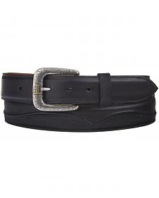 Lucchese Men's Black Calf Leather Seville Stitch Belt