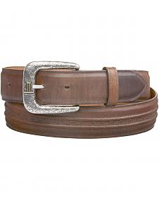 Lucchese Men's Burnished Calf Smooth Leather Belt
