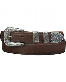 Lucchese Men's Tan Ranch Hand Leather Belt