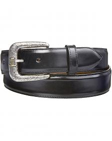 Lucchese Men's Smooth Black Goat Leather Belt