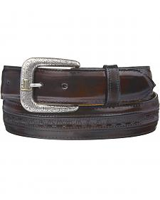 Lucchese Men's Black Cherry Goatskin Leather Belt