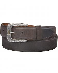 Lucchese Men's Straight Chocolate Burnished Goat Belt