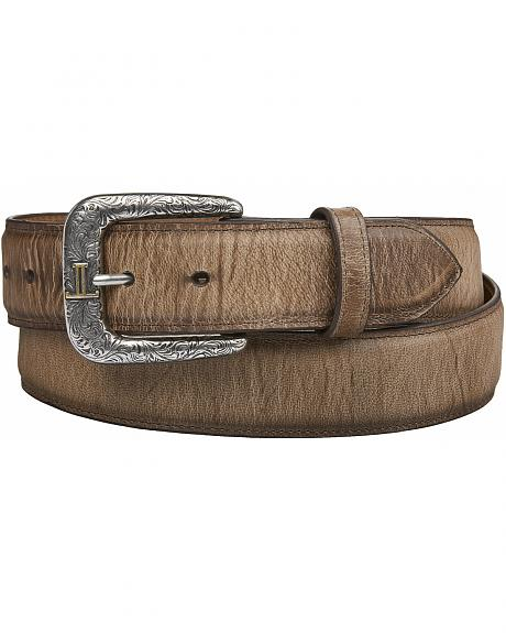 Lucchese Men's Tan Mad Dog Goat Leather Belt