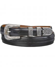 Lucchese Men's Black Goat with Hobby Stitch Leather Belt