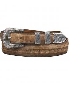 Lucchese Tan Mad Dog Goat with Hobby Stitch Belt