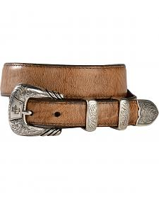 Lucchese Tan Goat Seville Stitch Belt