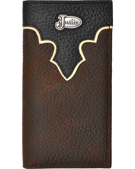 Justin Brown Bull Rodeo Leather Wallet